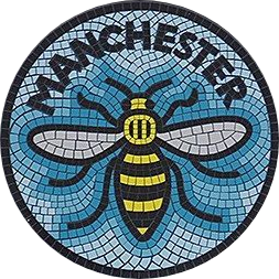 the Wednesday waggle logo with the bee